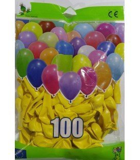 GLOBOS DE COLOR AMARILLO BOLSON 100 UDS