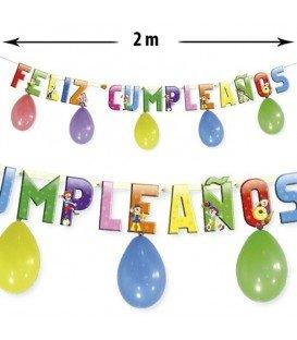 GUIRNALDA FELIZ CUMPLEAÑOS + GLOBOS 2MTS