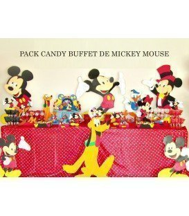 PACK MESA DULCE CUMPLEAÑOS TEMATICA MICKEY MOUSE