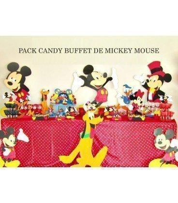 Pack mesa dulce cumplea os tematica mickey mouse for Mesa de cumpleanos de mickey