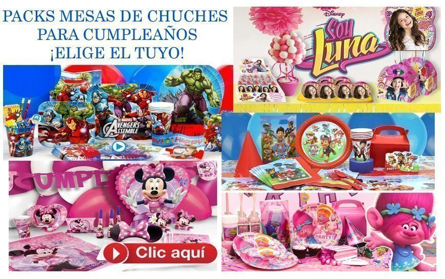 PACKS CANDY BUFFET CUMPLEAÑOS - TEMATICAS INFANTILES